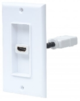 COPLE MANHATTAN HDMI BLANCO CON FACEPLATE 1 PUERTO - TiendaClic.mx