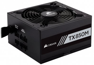 CORSAIR FUENTE DE PODER TX850M,  80 PLUS GOLD,  850W - TiendaClic.mx