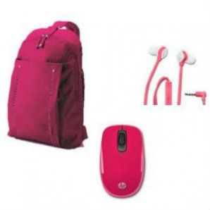 HP KIT BACKPACK ROSA + AUDIFONOS H2310 +  MOUSE Z3600 - TiendaClic.mx