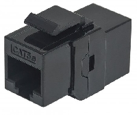 INTELLINET COPLE RJ45-RJ45 CAT5E KEYSTONE UTP RED NEGRO - TiendaClic.mx