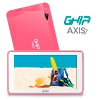 TABLET GHIA A7 WIFI T7718ROS/ 5PTOS/ QUAD/ 1GB/ 8GB/ 2CAM/ WIFI/ ANDROID/ BLUETOOTH/ ROSA - TiendaClic.mx