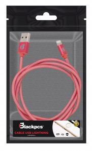 (CA-RED) CABLE LIGHTNING ROJO 100 CM PLASTICO 1A BLACKPCS (CARLPR-1) - TiendaClic.mx