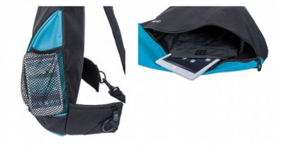 "BACKPACK MANHATTAN DASHPACK 12"" NEGRO/ AZUL 439855 - TiendaClic.mx"