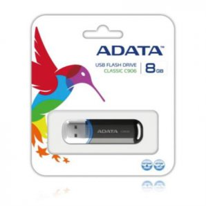 MEMORIA ADATA,  USB 2.0,  8GB,  COLOR NEGRO - TiendaClic.mx