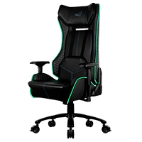 SILLA AEROCOOL PROJECT 7 GC1 AIR RGB NEGRO /  ERGONOMICO/ MAX 150KG/ RECLINABLE 90-180 /  ALTO RENDIMIENTO /  GAMER - TiendaClic.mx