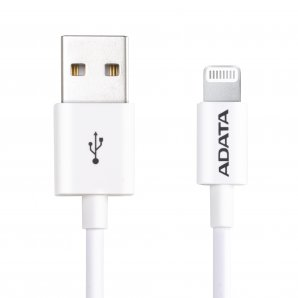 CABLE ADATA LIGHTNING APPLE 1M BLANCO (AMFIPL-1M-CWH) - TiendaClic.mx
