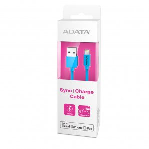 CABLE ADATA LIGHTNING APPLE 1M AZUL ( AMFIPL-100CM-CBL) - TiendaClic.mx