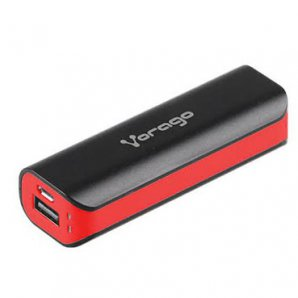 POWER BANK VORAGO AU-107 2600 mAh NEGRO/ ROJO - TiendaClic.mx