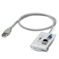 PLACA FRONTAL DE DATOS,  PHOENIX CONTACT - INSERTO DE CONTACTOS USB ,  CAT5E - TiendaClic.mx