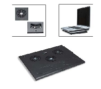 BASE VENTILADA MANHATTAN PARA NOTEBOOK C/  3 VENTILADORES - TiendaClic.mx