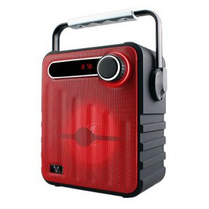 BOCINAS VORAGO BSP-200 BLUETOOTH RECARGABLE MSD/ USB/ FM/ 3.5MM ROJO - TiendaClic.mx
