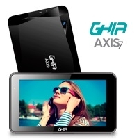 BUNDLE TABLET GHIA AXIS7 / T7718N /  QUAD /  1GB /  8GB /  2CAM /  WIFI /  AND 7 /  BT /  NEGRA + GHIA SINTONIZADOR BSICO DE TV   - TiendaClic.mx