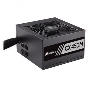 CORSAIR FUENTE DE PODER CX450M 450W SM 80 PLUS BRONZE  - TiendaClic.mx