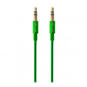 CABLE DE AUDIO VORAGO CAB-108 3.5 MM redondo METALICO VERDE - TiendaClic.mx