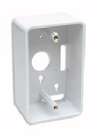 CAJA DE PARED BLANCA PARA CABLE DE RED RJ45 UTP INTELLINET 4.80CM PROFUNDIDAD - TiendaClic.mx