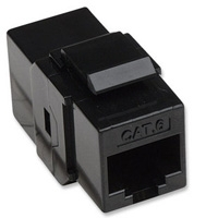 COPLE RJ45-RJ45 INTELLINET CAT6 KEYSTONE  UTP RED NEGRO - TiendaClic.mx