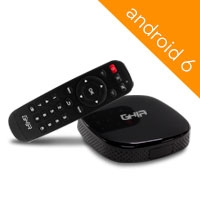 SMART TV BOX GHIA ANDROID 6 / QUADCORE/ 1GB/ 8GB/ LAN/ WIFI/ HDMI/ AV/ CR/ NEGRO - TiendaClic.mx