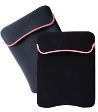 FUNDA DE NEOPRENO REVERSIBLE TECH ZONE P/ PORTATIL 9NEG/ ROSA - TiendaClic.mx