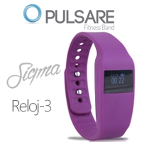 GHIA BAND FIT PULSARE SIGMA/  0.5 TOUCH/  HEART RATE/  BT/  CAM SHOOTER/  IOS/  ANDROID/  MORADO - TiendaClic.mx
