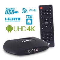 SMART TV BOX GHIA GAC-009/ QUAD/ 1GB/ 8GB/ LAN/ WIFI/ HDMI/ AV/ CR/ SPDIF/ NEGRO - TiendaClic.mx