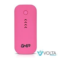 Power Bank Ghia Volta GAC-021 de 3600mAh color rosa - TiendaClic.mx