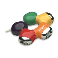 HUB USB V2.0 4 PUERTOS MANHATTAN MULTICOLOR - TiendaClic.mx