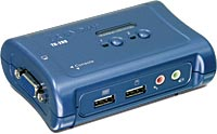 KVM SWITCH 2 PUERTOS USB CON AUDIO TRENDNET - TiendaClic.mx