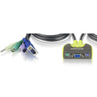 KVM SWITCH PS2 + AUDIO 2 CPUS IOGEAR - TiendaClic.mx