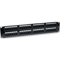 PANEL DE PARCHEO INTELLINET CAT5E UTP 48 PUERTOS RJ45 MONTAJE RACK 19 2U - TiendaClic.mx