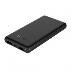 POWER BANK VORAGO PB-401 10, 000 mAh 2 PUERTOS 1A/ 2.1A NEGRO - TiendaClic.mx