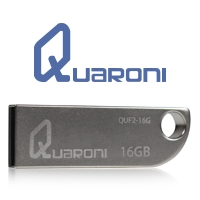 MEMORIA QUARONI 16GB USB 2.0 CUERPO METALICO COMPATIBLE CON WINDOWS/ MAC/ LINUX - TiendaClic.mx