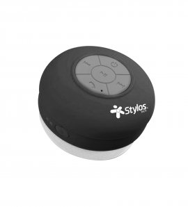 BOCINA STYLOS WATERPROOF BLUETOOTH NEGRA 2W BLUETOOTH SPEAKER STSWAX1B - TiendaClic.mx