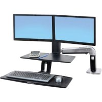 "WORKFIT-A WITH SUSPENDED KEYBOARD,  DUAL,  5"" AND WS,  POLISHED - TiendaClic.mx"