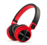 AUDIFONOS ACTECK ENERGY HEADPHONES DJ2 ROJO CABLE DE AUDIO 3,5MM - TiendaClic.mx