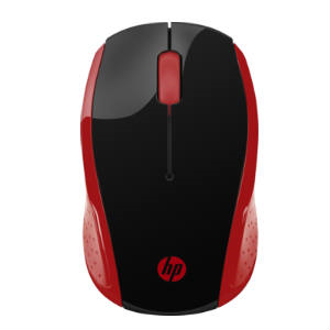 MOUSE OPTICO HP 200 RED WIRELESS MOUSE - TiendaClic.mx