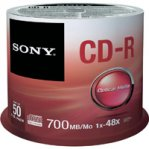 CD-R SONY 700 MB 80 MINUTOS CON 50 PIEZAS - TiendaClic.mx