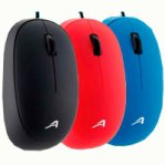 MOUSE OPTICO ACTECK ALAMBRICO USB COLOR ROJO, AC-916516 - TiendaClic.mx