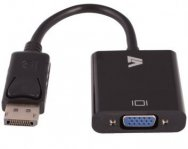 DISPLAYPORT TO VGA ADAPTER-BLK M/F VGA,SVGA,SXGA,UXGA,WUXGA CABLE - TiendaClic.mx