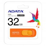 MEMORIA FLASH ADATA C008 32GB USB 2.0 NARANJA (AC008-32G-ROR)  - TiendaClic.mx