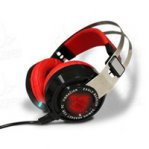 AUDIFONOS EAGLE WARRIOR RAVEN CON MICROFONO COLOR ROJO/NEGRO TECNOLOGIA 7.1 USB/GAMER - TiendaClic.mx