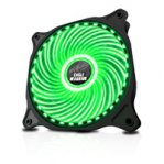 VENTILADOR EAGLE WARRIOR PARA GABINETE 12 CM/33LED/VERDE/GAMER - TiendaClic.mx