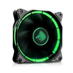 VENTILADOR EAGLE WARRIOR HALO PARA GABINETE/12CM/TUBO DE LED/VERDE/CONECTOR 4 PINES/GAMER - TiendaClic.mx