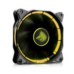 VENTILADOR EAGLE WARRIOR HALO PARA GABINETE/12CM/TUBO DE LED/AMARILLO/CONECTOR 4 PINES/GAMER - TiendaClic.mx