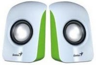 BOCINAS GENIUS SP-U115 1.5 WATTS USB VERDE/BLANCO - TiendaClic.mx