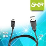 CABLE USB A MINI USB GHIA NEGRO - TiendaClic.mx