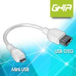 GHIA-Cable USB Blanco OTG a Mini USB - TiendaClic.mx