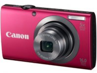 CAMARA CANON POWERSHOT A2300 16 MP, LCD 2,7 5X ZOOM, BAT. LITIO ROJO - TiendaClic.mx