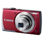 CAMARA CANON POWERSHOT A2500 16MP 5X LCD 2.7 V. HD, BAT LITIO ROJO - TiendaClic.mx