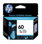 CARTUCHO DE TINTA HP 60 TRICOLOR HASTA 165 PAGINAS CC643WL - TiendaClic.mx
