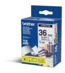 CINTA LAMINADA BROTHER TZE261 NEGRO SOBRE BLANCO 36 MM. - TiendaClic.mx